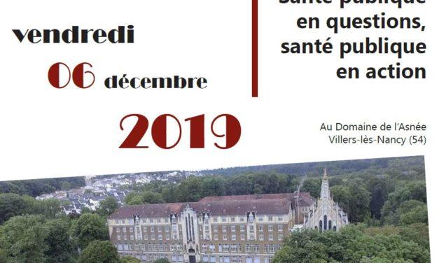 Journée scientifique le 6 Décembre 2019 organisée par Ecole de Santé Publique et l'APEMAC