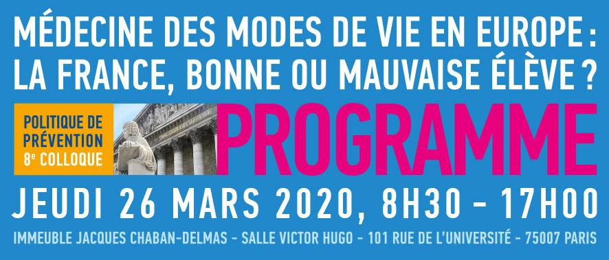 Reporté – 8ème colloque de la série Politique de Prévention | 8 Octobre 2020 | Paris