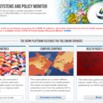 The Health Systems and Policy Monitor