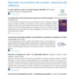 Sélection de ressources documentaires « Education et promotion de la santé » IREPS