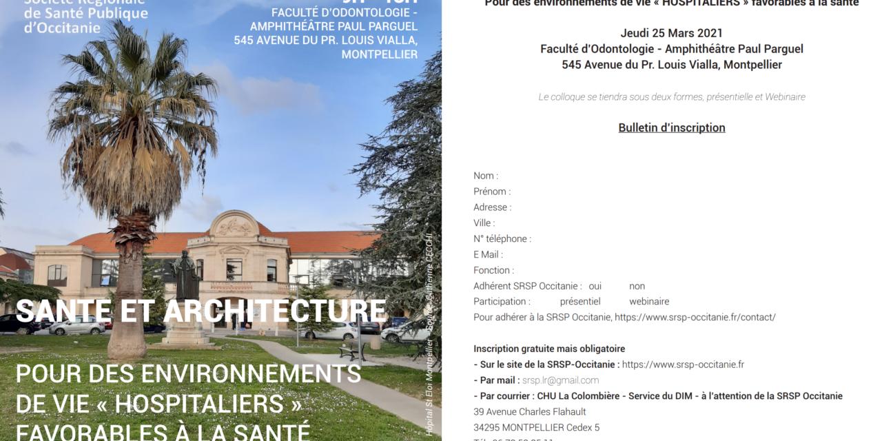 SANTE et ARCHITECTURE | 25 Mars 2021 | Montpellier & Webinaire