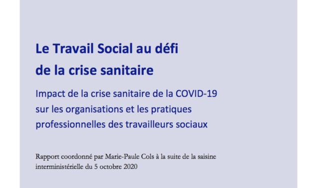 Le travail social face à la crise sanitaire : un rapport du Haut Conseil du travail social