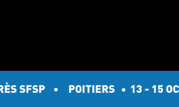 Congrès de la Société Française de Santé Publique | 13-15 octobre 2021 | Inscriptions