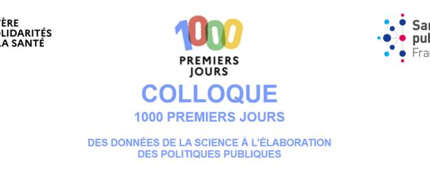 Colloque « les 1000 premiers jours »     23 septembre 2021    Webinaire
