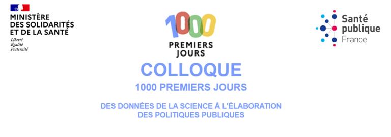 Colloque « les 1000 premiers jours »  |  23 septembre 2021  | Webinaire